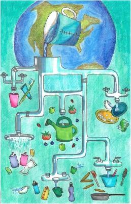 2019 Imagine a Day without Water Art Contest 7th – 8th Grade Winner Emily Zhu