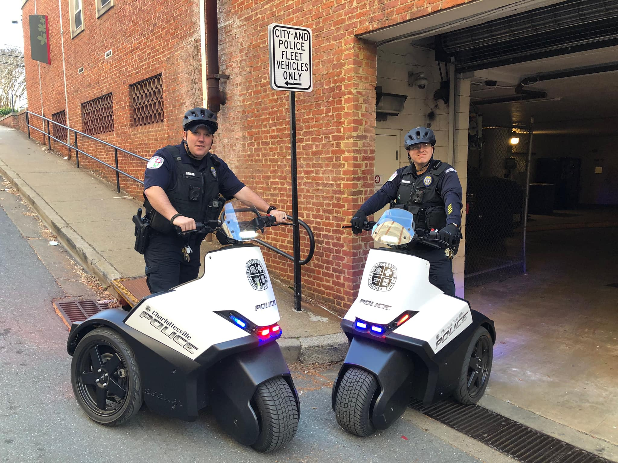 Officers posing on segways