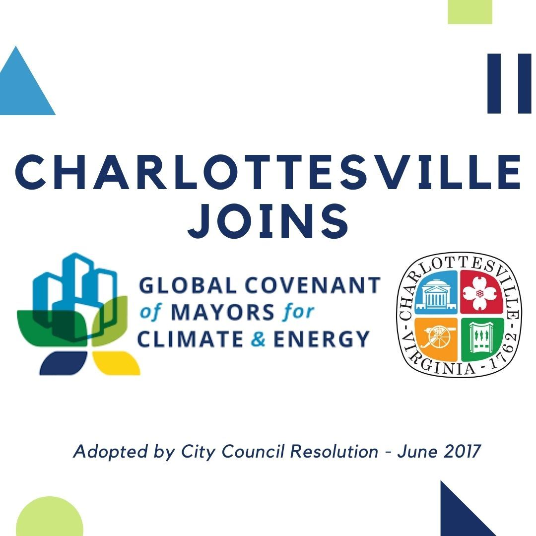 Text image announcing that the City joined the Global Covenant of Mayors Commitment