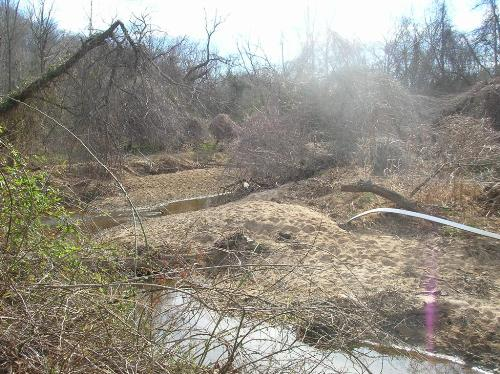 Degraded stretch of Meadow Creek