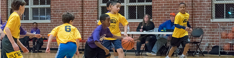 Youth Basketball Being Played