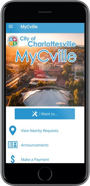 Screenshot of the Mycville App on a phone
