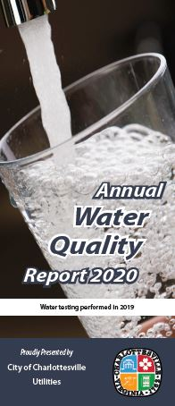 Cover of the 2020 water quality report
