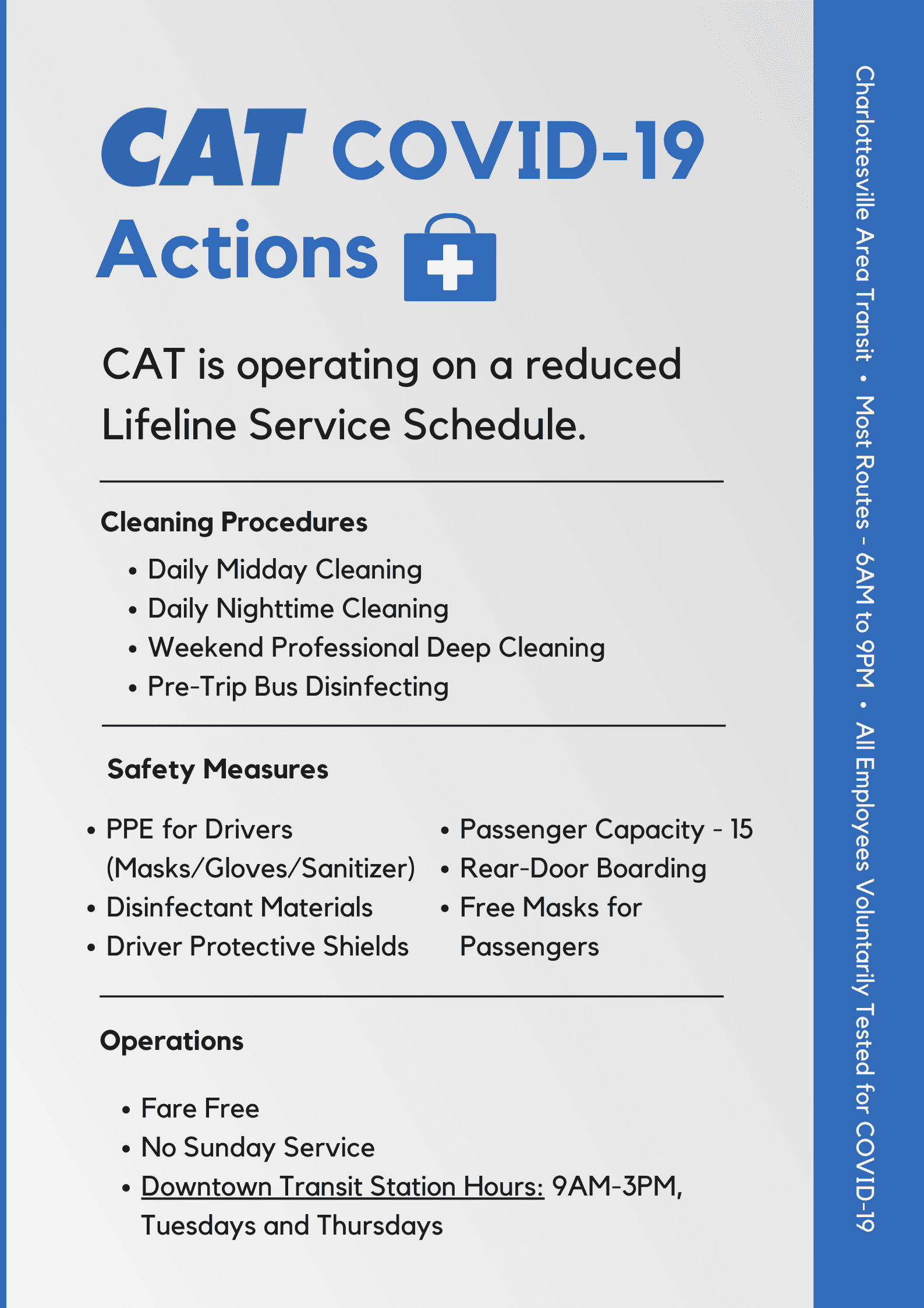 CAT COVID-19 Actions Poster