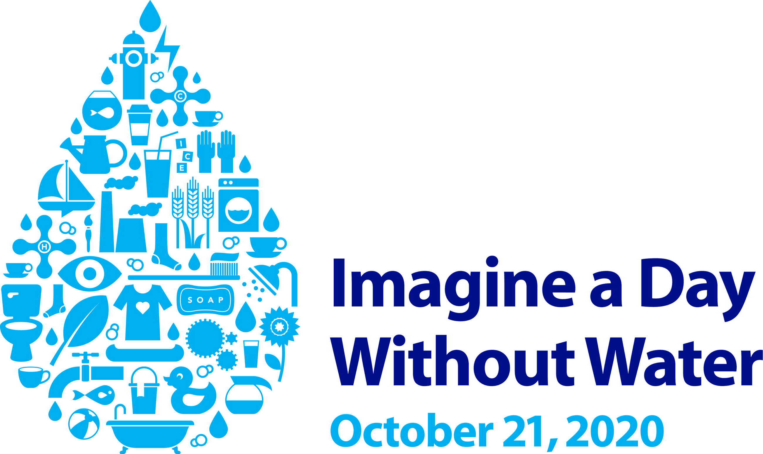 Imagine a Day without Water 2020 Logo, October 21st, 2020