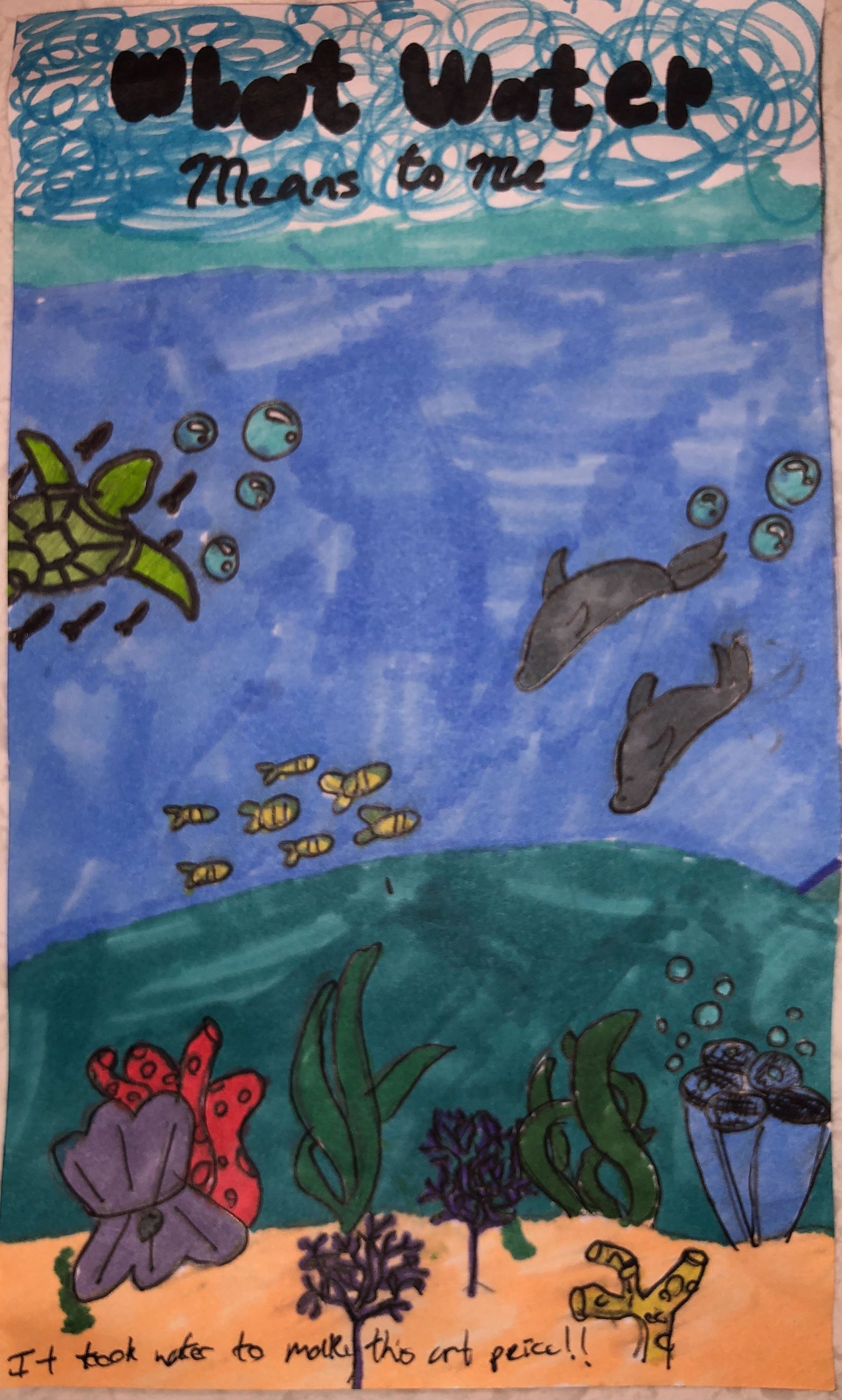 2020 Imagine a Day without Water Art Contest 3rd – 4th Grade Winner: Claudia Van Clief